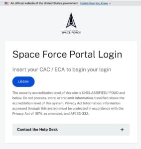 Space Force Portal